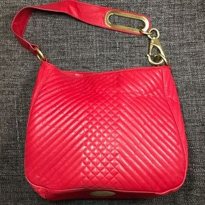 Cynthia Rowley Genuine Leather Red Shoulder Bag